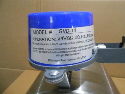 """1 NIB FIELD CONTROLS 46487501 GVD-10 VENT DAMPER 10/"""" W//O HARNESS"""