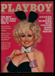 Playboy-October-1978-DOLLY-PARTON-Leon-Spink-Cherly-Tiegs-Annie-VERY-FINE-GIFT