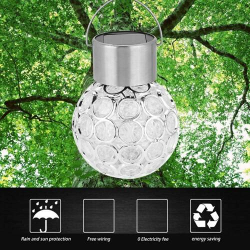 Hanging Ball Solar Power LED Light Garden Outdoor Walkway Lamps Color Changing