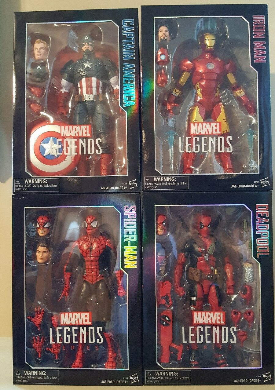 Marvel Legen ds 12 inch inch inch series set of 4 NIB, Deadpool,Spider-Man,Iron Man, Cap A be3613