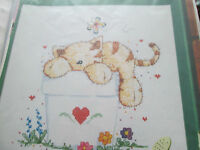 'Sunday Snooze' cross stitch chart (only)