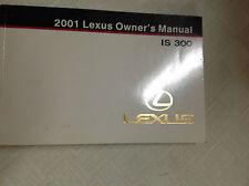 01 lexus is300 owners manual ebay rh ebay com 2001 lexus is300 owner's manual Lexus IS300 Parts Catalog
