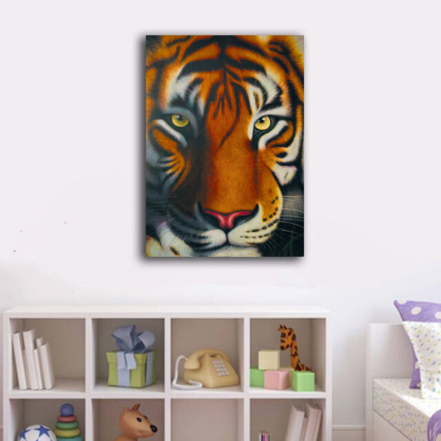 50×70×3cm One Tiger Canvas Prints Framed Wall Art Home Decor Painting Gift