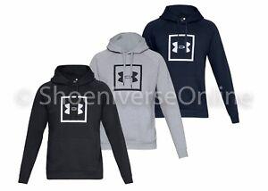 Black S Under Armour UA Mens Rival Fleece Logo Pullover Jumper Hoodie