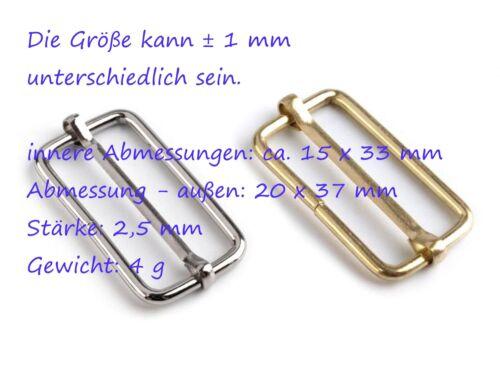 2 Gurtversteller Gurtverschieber für Schnallen Kunststoff Metall Farbwahl