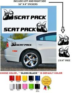 """#700 16/""""  Dodge Charger Challenger Scat Pack 392 HEMI Shaker Stickers Decals"""