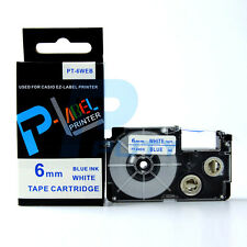 """XR-24WEB Blue on White 24mm 8m 1 x 26/"""" Label Tape Compatible for Casio XR-24WEB1"""