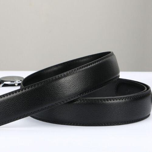 3.5CM Men Black Brown Genuine Leather Belt For Automatic Buckle Waist Strap Belt