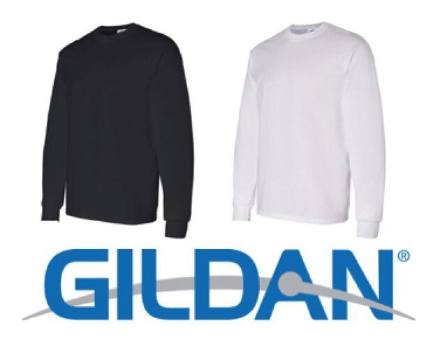 872348dab9e 20 Long Sleeve T-shirts Blank 10 Black 10 White BULK Lot S-xl ...