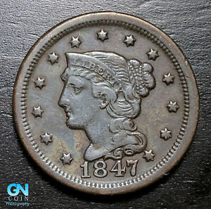 1847-Braided-Hair-Large-Cent-MAKE-US-AN-OFFER-B3707