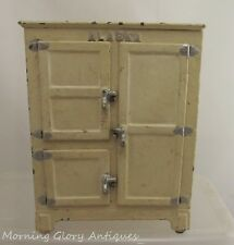 "Arcade 7-1/2"" Tall 4 Door Alaska Cast Iron Refrigerator Ice Box"