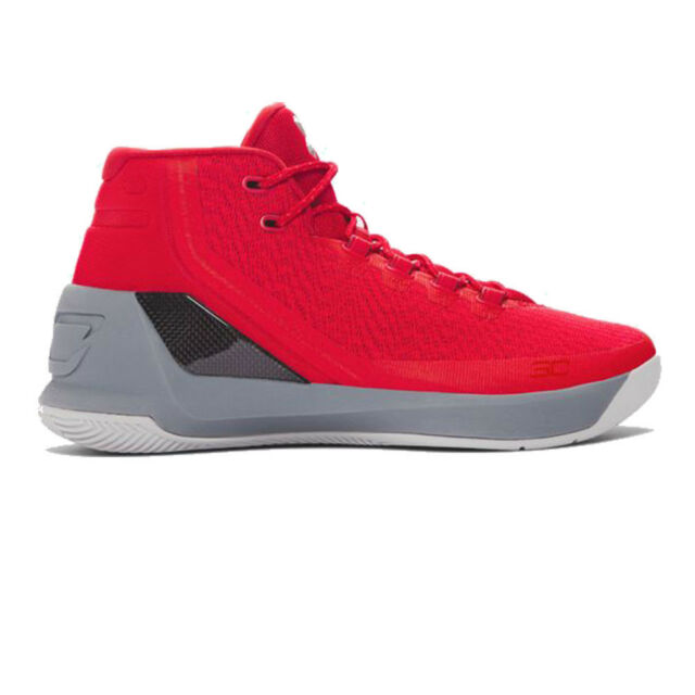 f02b26aecc8 Under Armour Mens Curry 3 Basketball Shoes Red Sports Breathable