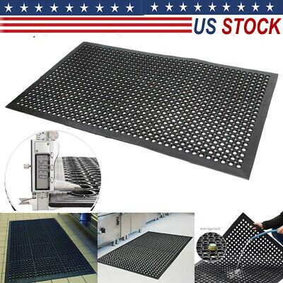2/' x 6/' Foot Long Anti Fatigue Rubber Floor Mat Protector Commercial Garage Pad