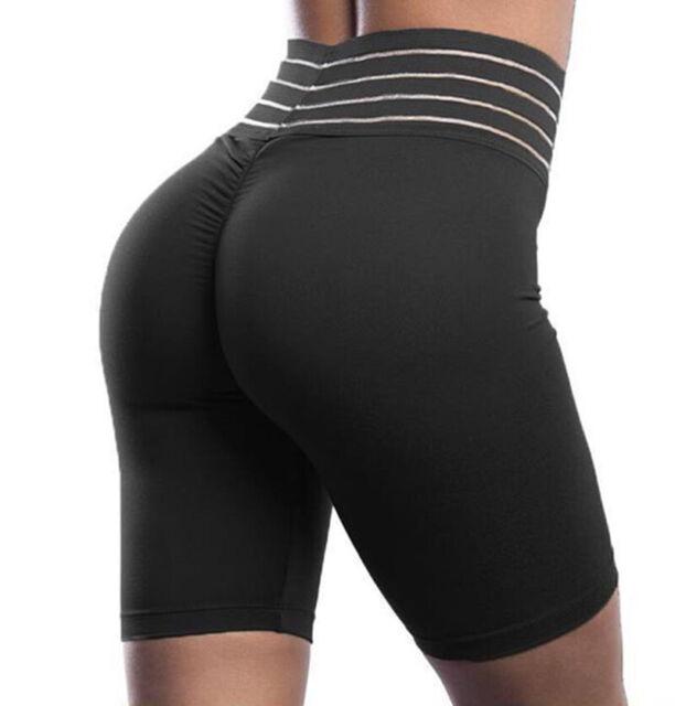 High Waist Women Biker Shorts Yoga Stretch GYM Sports Bermuda Pants Leggings X76