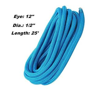 Amarine-Made-1-2-Inch-25-FT-Double-Braid-Nylon-Dockline-Mooring-Rope-Color-Blue