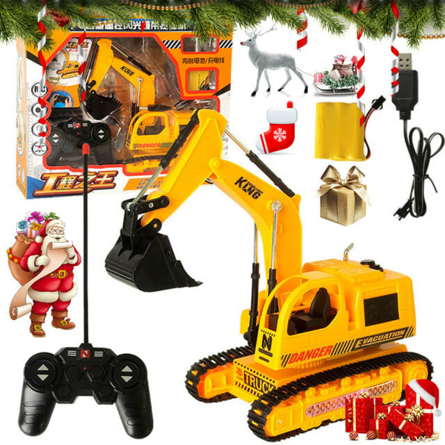 2019 Radio Remote Rc Jcb Kids Toy Excavator Led Bulldozer Digger