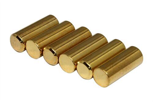 Humbucker Gold Plated 1215 Steel Pole Slugs w// Chamfered End Qty 60