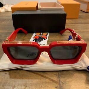 bc71ee64b5 Image is loading Louis-Vuitton-X-Virgil-Abloh-Millionaire-Sunglasses-Red-