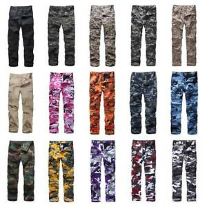 Mens-Womens-Casual-Fashion-Camo-Cargo-Pants-Military-Combat-Army-style-BDU-Pants