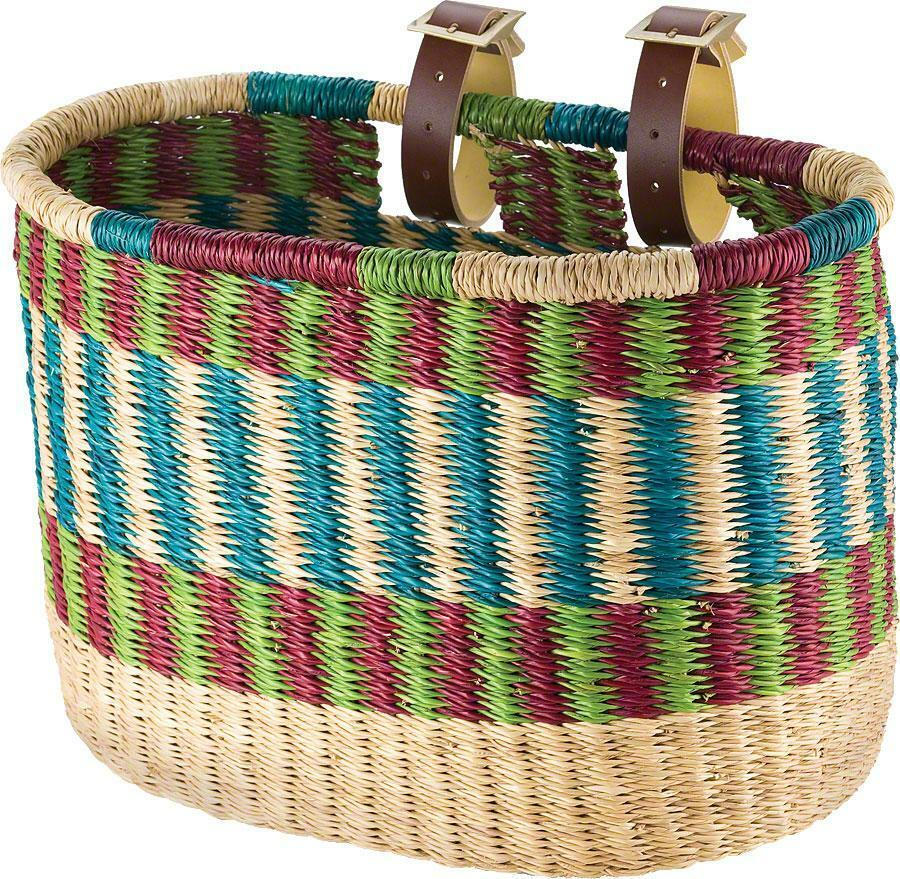 House of Talents Oblong Bike Front Basket: Assorted Farbes