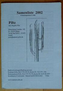 PILTZ-Samenliste-2002-CACTUS-BOOK-nursery-catalogue-plants-seeds-seeds