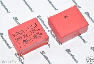 1.5µF 1,5uF 1pcs-WIMA MKP-X2R 1.5uF 400V ac 10/% pitch:27.5mm Capacitor