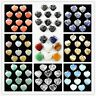 DX-4 New! Wholesale 20mm Mixed Gemstone Heart Pendant Bead 10 pcs