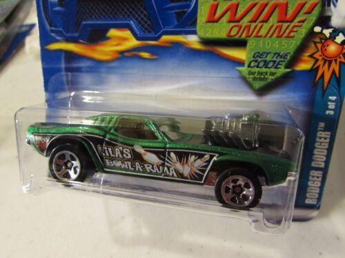 Hot Wheels Rodger Dodger #061 Lila/'s Bowl-A-Rama Green Race /& Win Card