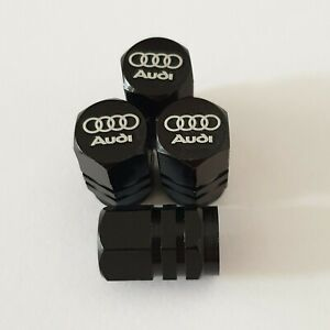 AUDI-LASER-Ruota-della-valvola-Polvere-Tappi-tutti-i-modelli-BLK-S-line-RS-S5-S3-RS3-RS4-RS5-RS6