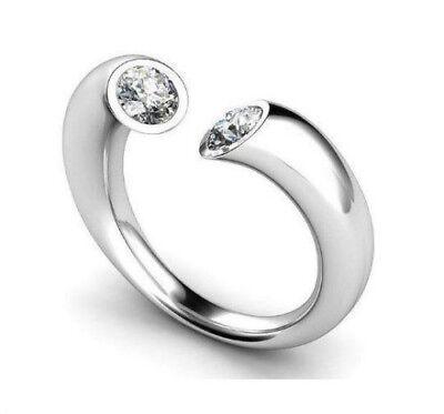 Straightforward Diamant Ring 0,26 Karat Brillanten 750/18k Weißgold Oder Roségold High Quality Materials Gelbgold