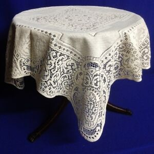 Heritage-Lace-Ecru-Ivory-Canterbury-Table-Topper-Factory-Blemish