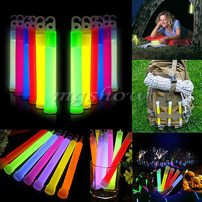 "5pcs 6""Glow Sticks Party Halloween Light Decor Assorted Lanyard Favors Neon Rave"