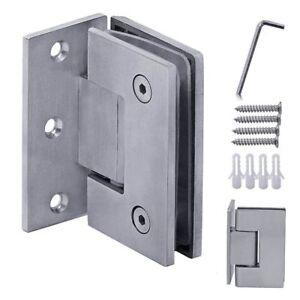 135° Stainless Steel Glass Door Hinge Bathroom Shower Cabin Mounted Home, Furniture & DIY Home Doors, Door Parts & Accessories