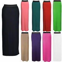 NEW WOMENS LADIES JERSEY LONG MAXI SKIRT GYPSY STRETCHY DRESSES SIZE 8 - 26