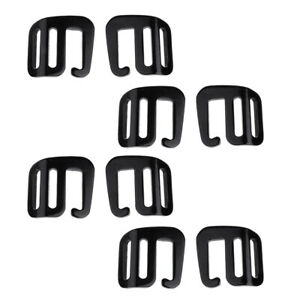 8Pcs 1/'/' Sturdy Hook Outdoor Webbing Buckle Backpack Strap 25mm Black