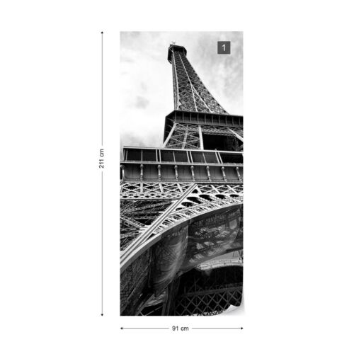Paris Eiffel Tower Black And White Wallpaper Mural Fleece Easy-Install Paper