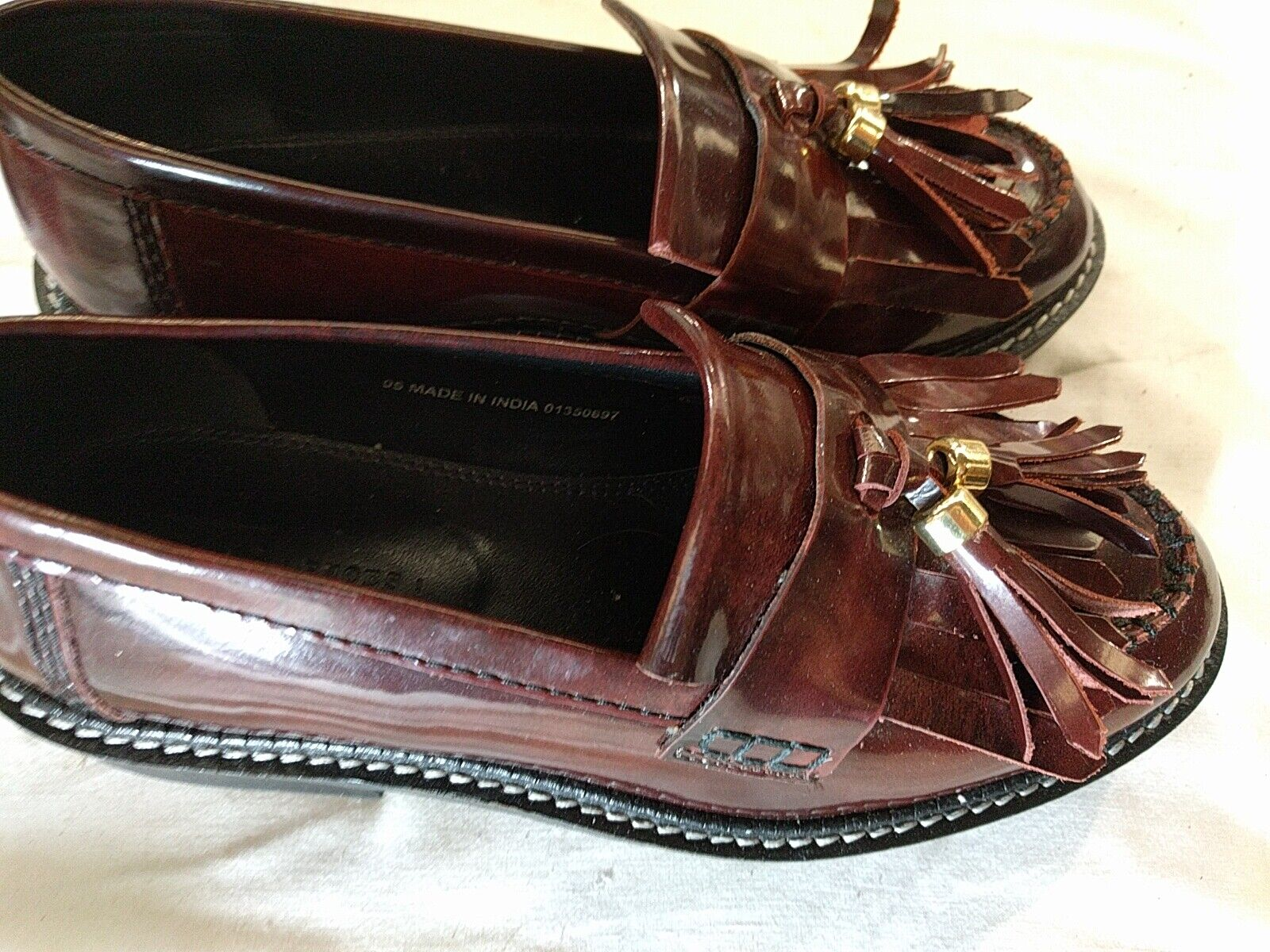 Womens Shoes Asos Size 5 UK Synthetic Dark Red Wine Flat Shoes