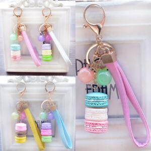 Mode-Porte-Cle-Macaron-Pendentif-Mobile-Sac-Bagage-Phone-Accessoire-Femme-Fille