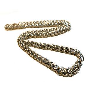 Collana catena acciaio inox uomo donna catenina da 50 60 cm argento corda in rap