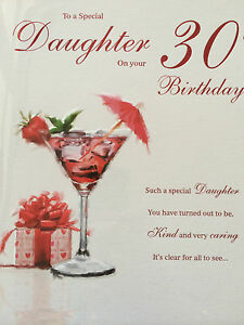 Daughter 30th birthday card ebay image is loading daughter 30th birthday card bookmarktalkfo Image collections