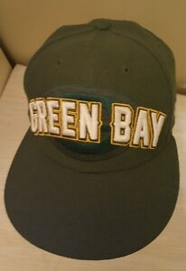 Green Bay Packers Hat New Era Fitted Size 7 NFL 59Fifty Cap  d4a50c33c1b6