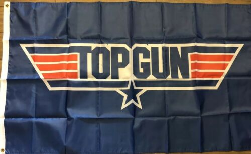 TOP GUN 3X5 Flag Tom Cruise Air Force Blue Banner Man Cave Movie Theater