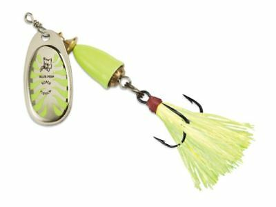 Blue Fox Classic Vibrax Glow Spinner Color Glow Green Size 5 Blade 7//16 oz