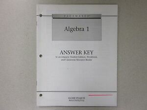 Details about Pacemaker Algebra 1 ANSWER KEY book Globe Fearon 0130236446