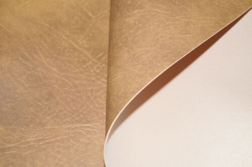 Honey Expandable Premium Faux Leather Upholstery Material Leatherette Fabric