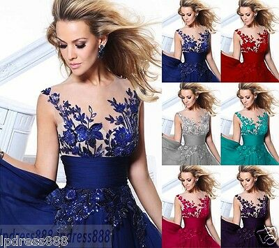New Formal Long Ball Gown Party Cocktail Prom Bridesmaid Evening Dress Size 6-24