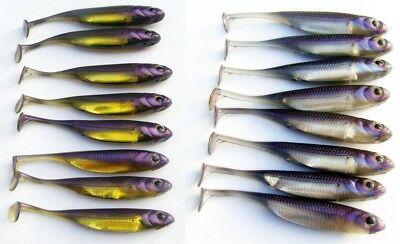 "#23 FISH ARROW FLASH J-SHAD 3/"" soft Realistic Scented Salty lure ZANDER PIKE"