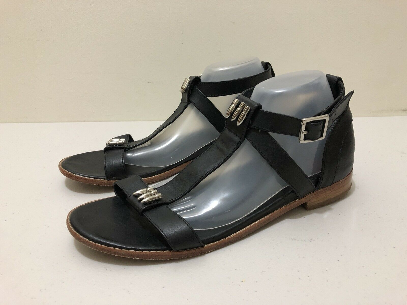 Barosso Sandals donna  Dimensione 43  Great Cond Leather Leather Leather   T Bar   Style Design nero d35c04