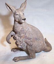 Silver Deer's Ark Figurine by Tom Rubel Kangaroo and Baby Joey New