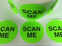 100 2 Scan Me Green Neon Stickers Labels Stickers Shipping Scan Me Labels